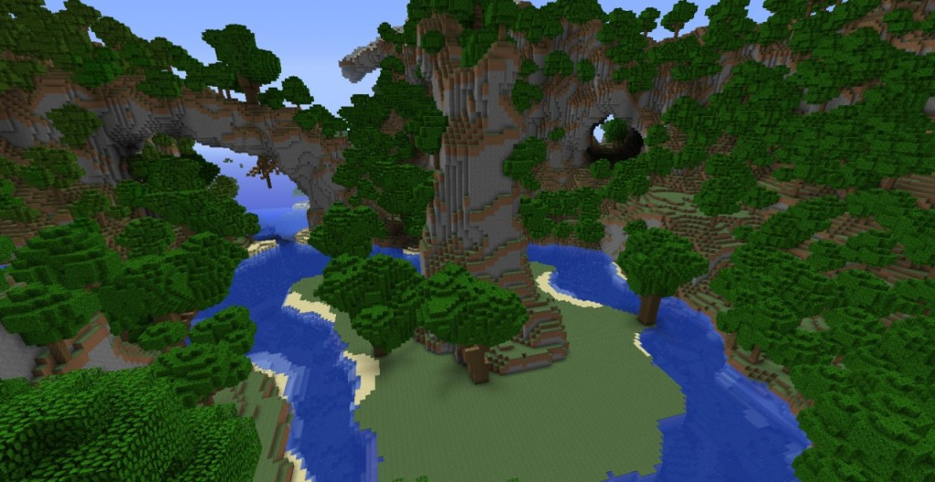 Minecraft Paysage