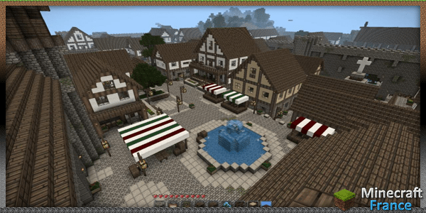 Map Oddworlds Medieval Town Minecraft France