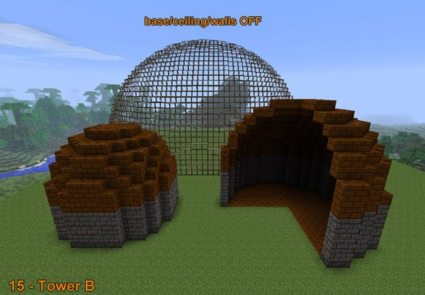 Mod town builder 1 2 5 minecraft france - Comment faire une maison de luxe dans minecraft ...