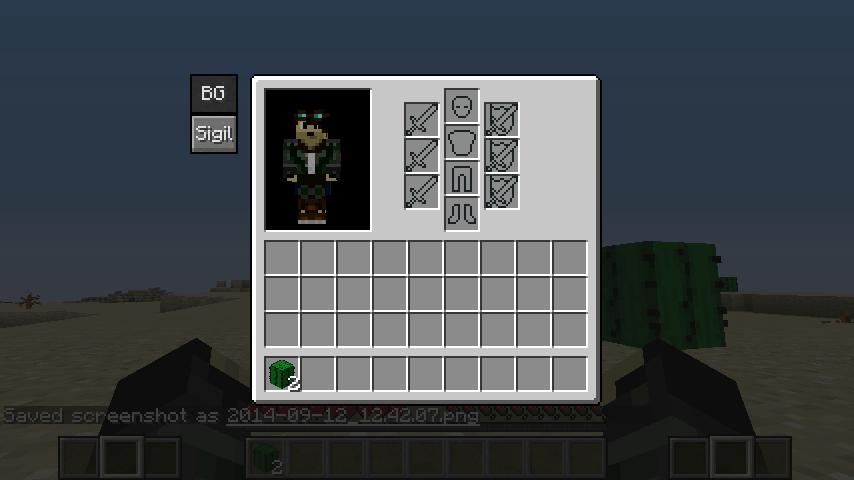 Nouvelle interface quand vous cliquez sur le bouton BG
