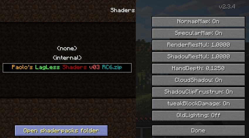 GLSL Shaders - Mod pour Minecraft 1.9.2/1.9/1.8.9/1.8/1.7.10