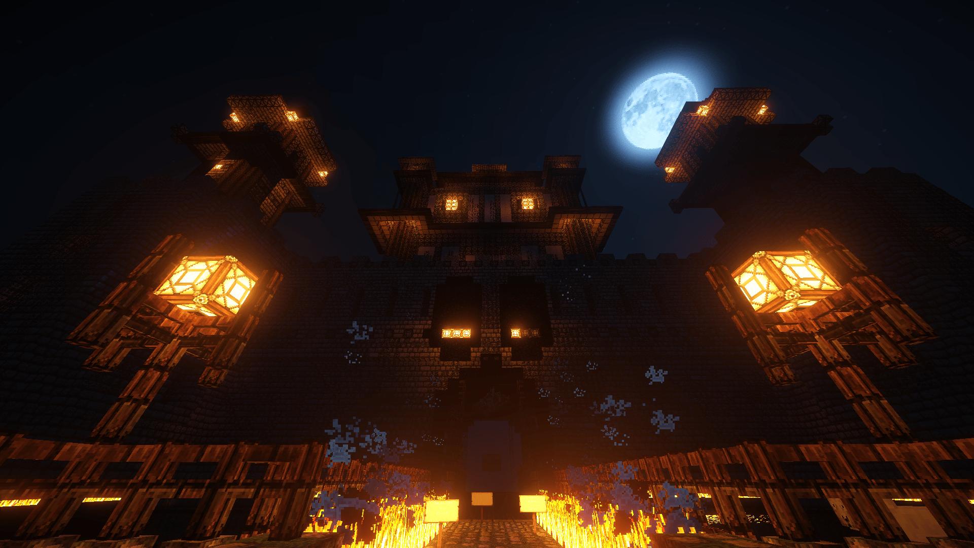 Le château dans la nuit