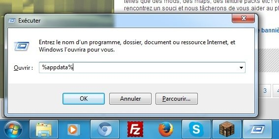 Touche windows + R --> %appdata%