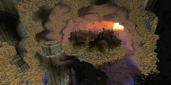 RageCraft #2 : Insomnia : Une ville éclairée de toutes parts par de la glowstone...