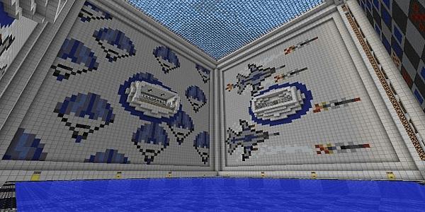 Le bâtiment du joueur bleu