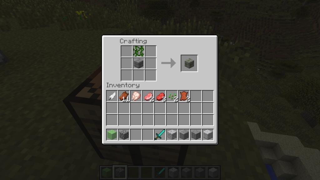 Voici donc le nouveau craft de la mossy stone!
