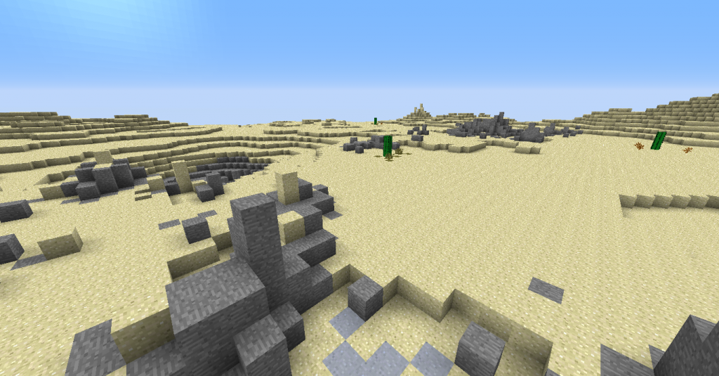 Des ruines à la surface.