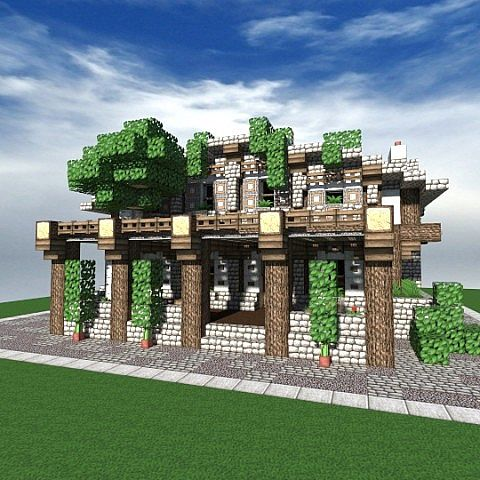 how to build a good little shop in minecraft