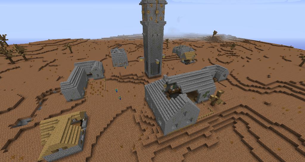 Un village abandonné.