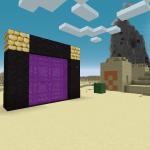 Un portail du Nether dans le désert