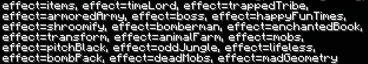 Mini mod - Pandora's Box - Liste des effets 2.