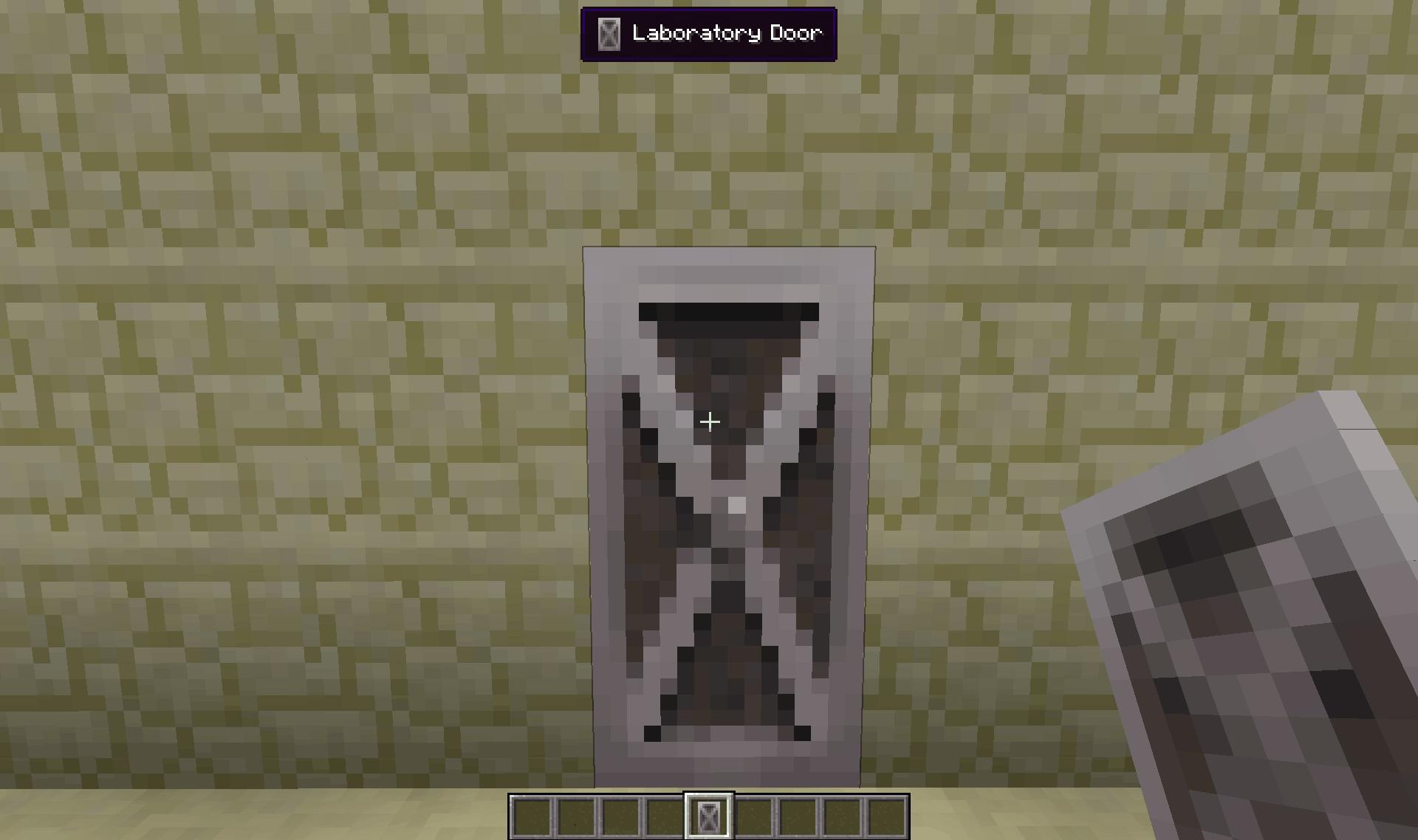 Aperçu en jeu de la porte de laboratoire.