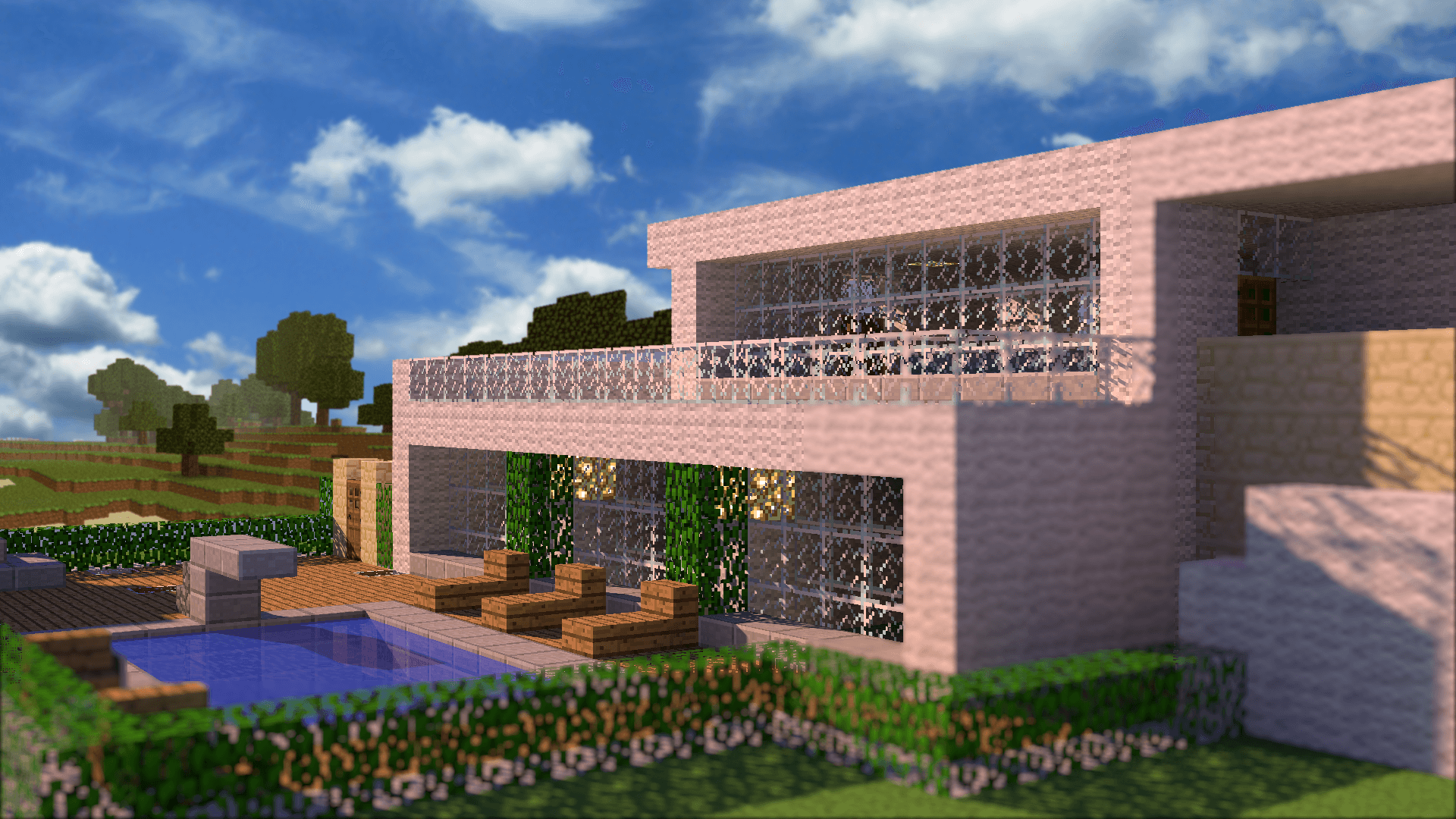 Wallpaper s lection de la semaine n 5 minecraft france for Modern house hd