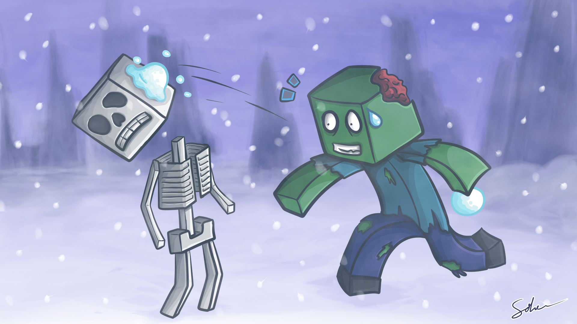 minecraft_snowball_fight_by_goldsolace-d5oe240