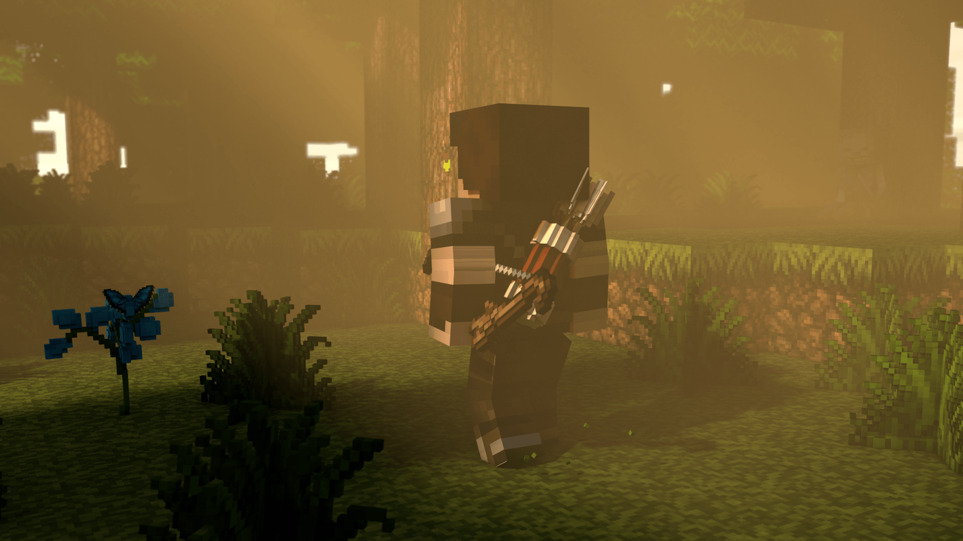 wallpaper_minecraft_3d___the_archer_by_thefennixcreations-d7y0wqh