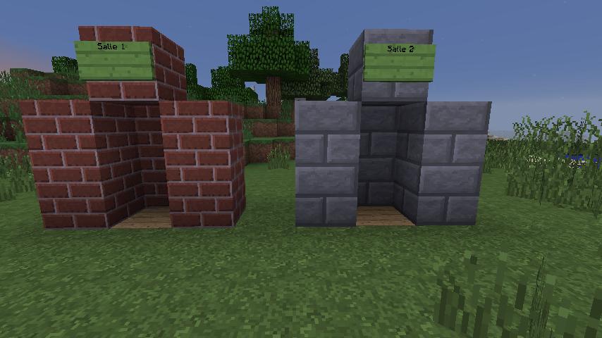 Floocraft : Deux cheminées prête pour faire usage de la poudre de cheminette