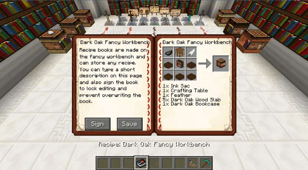 Bibliocraft - Recipe Book