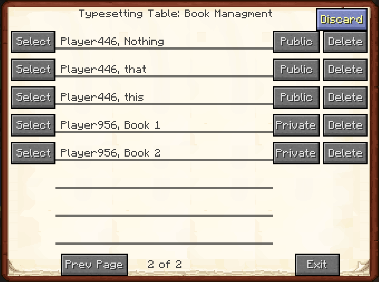 Bibliocraft - Typesetting Table - GUI