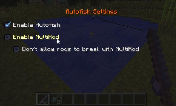 A défaut d'avoir un screen à vous montrer, voici le menu d'Autofish.