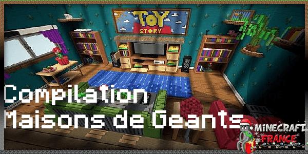 Maps Top 4 Maisons De Géants 1x Minecraft France