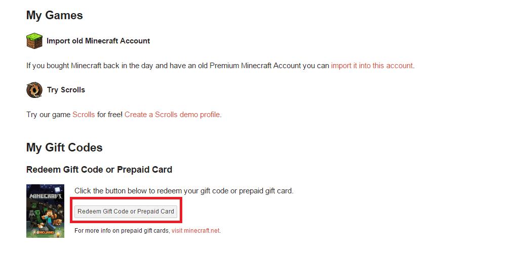 Tutoriel] Enregistrer un Gift Code Minecraft - Minecraft-France