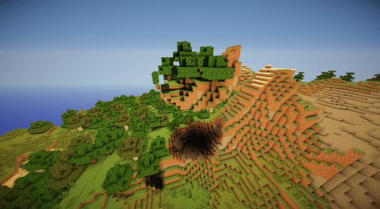 Une petite île volante et son cratère