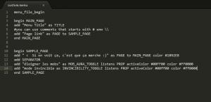 customenucode