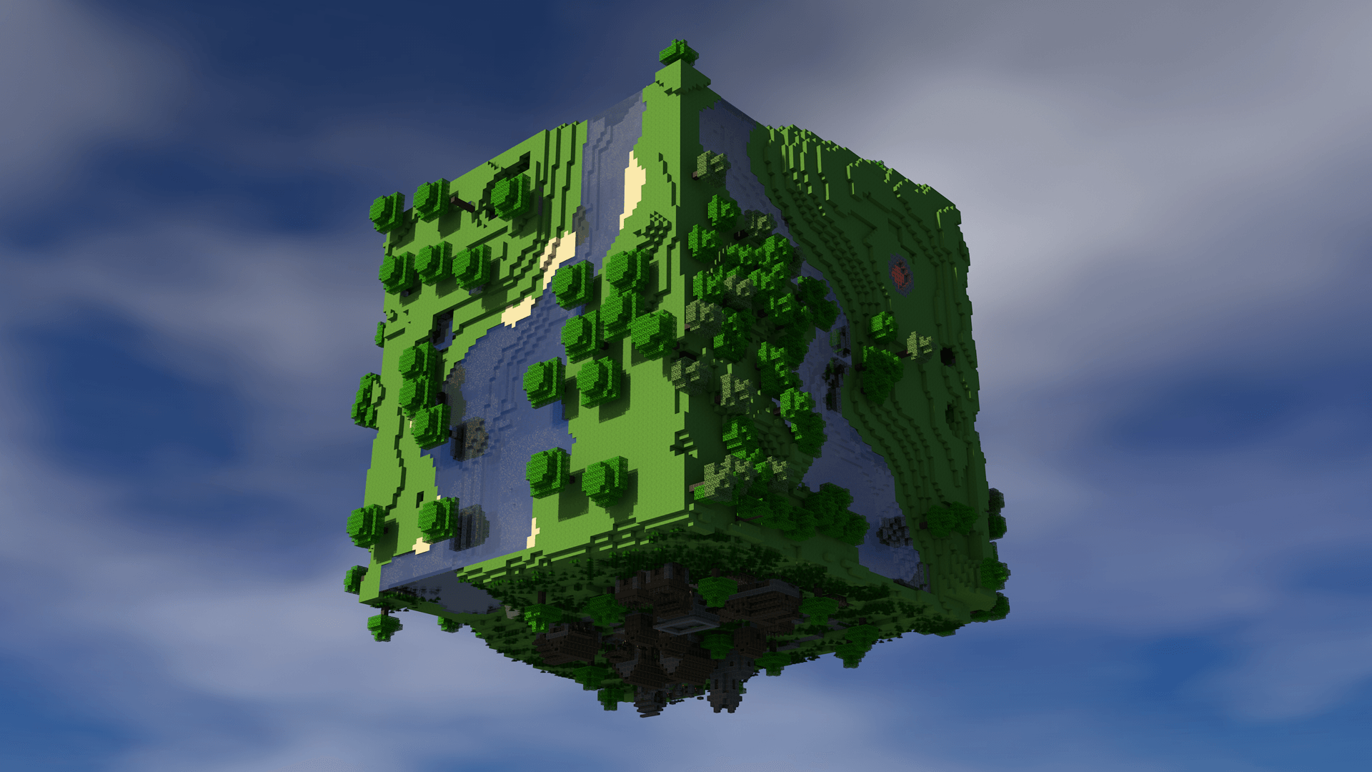 Célèbre Minecraft World Wallpaper | Free | Download JW85