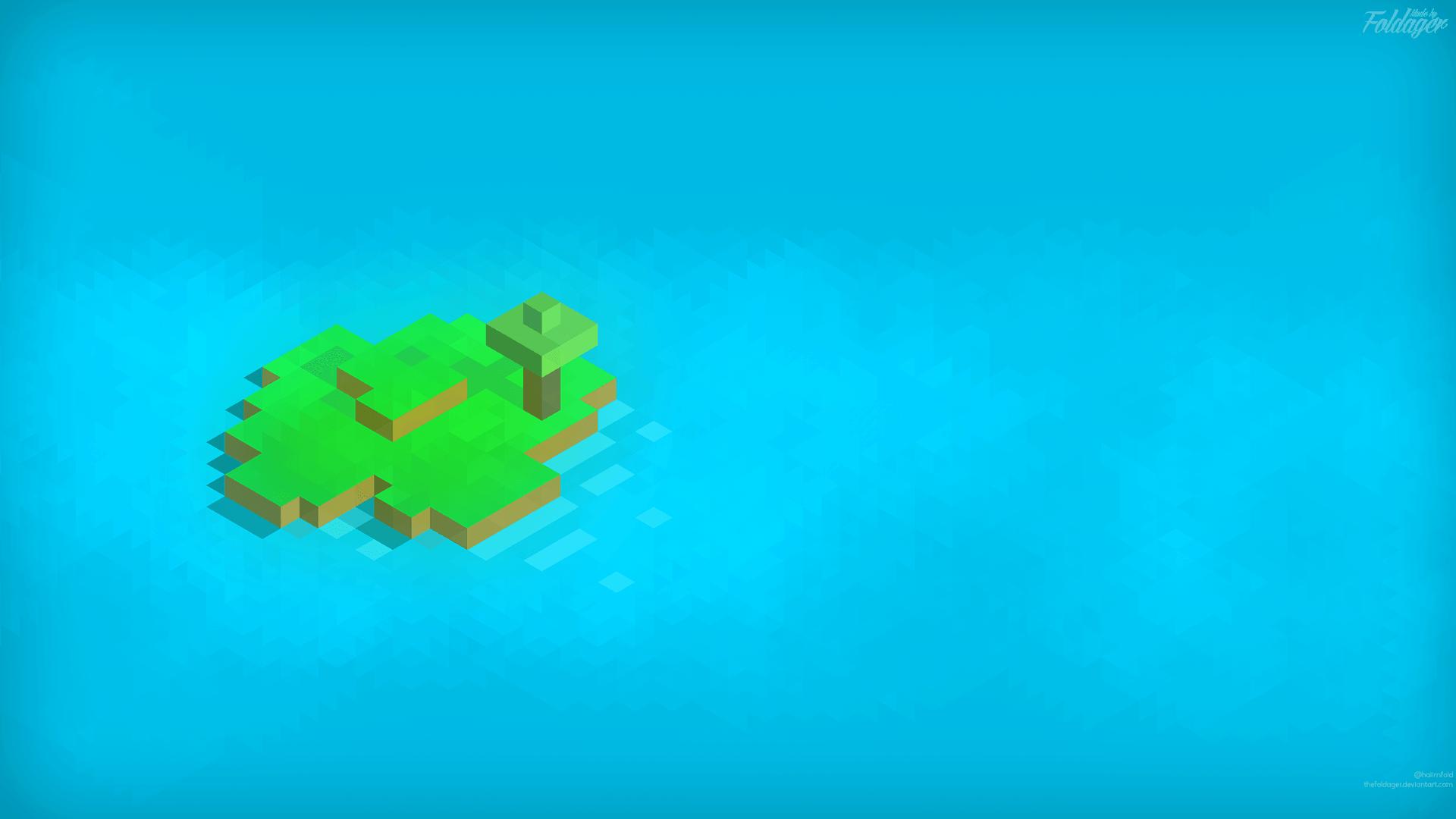 isometric_minecraft_island__hd_1920x1080__by_thefoldager-d8fz2fm