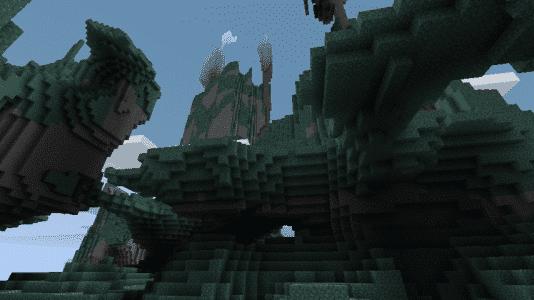 Biome O' Plenty - Des montagnes avec des grottes