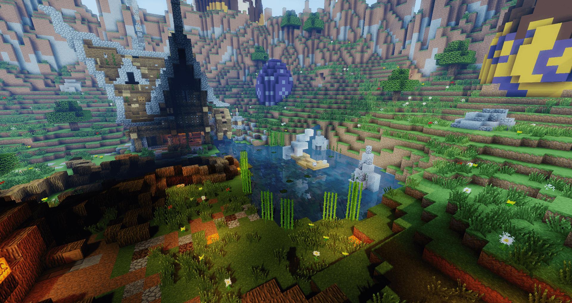 Un bel étang illuminé par les rayons lumineux du soleil !