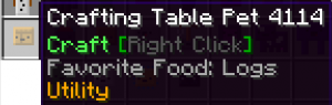 Crafting Table Pet