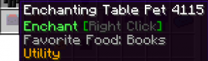 Enchanting table pet