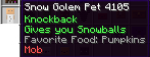 Snow Golem Pet