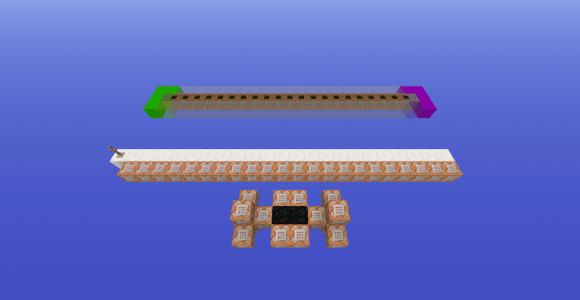 Vue du montage expérimental : le bloc à gauche est de l'herbe, à droite du mycélium