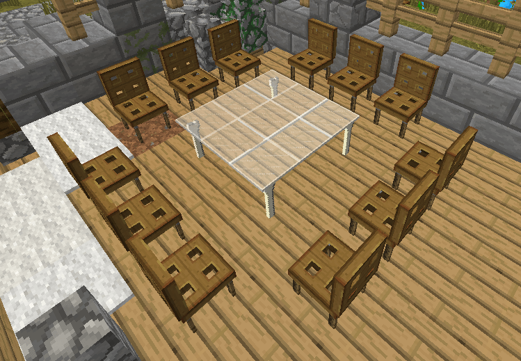 No mod furnitures 1 8 minecraft france for Salle a manger minecraft