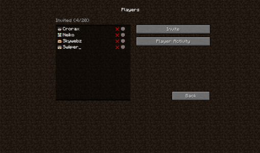 Minecraft Realms - Players Realms