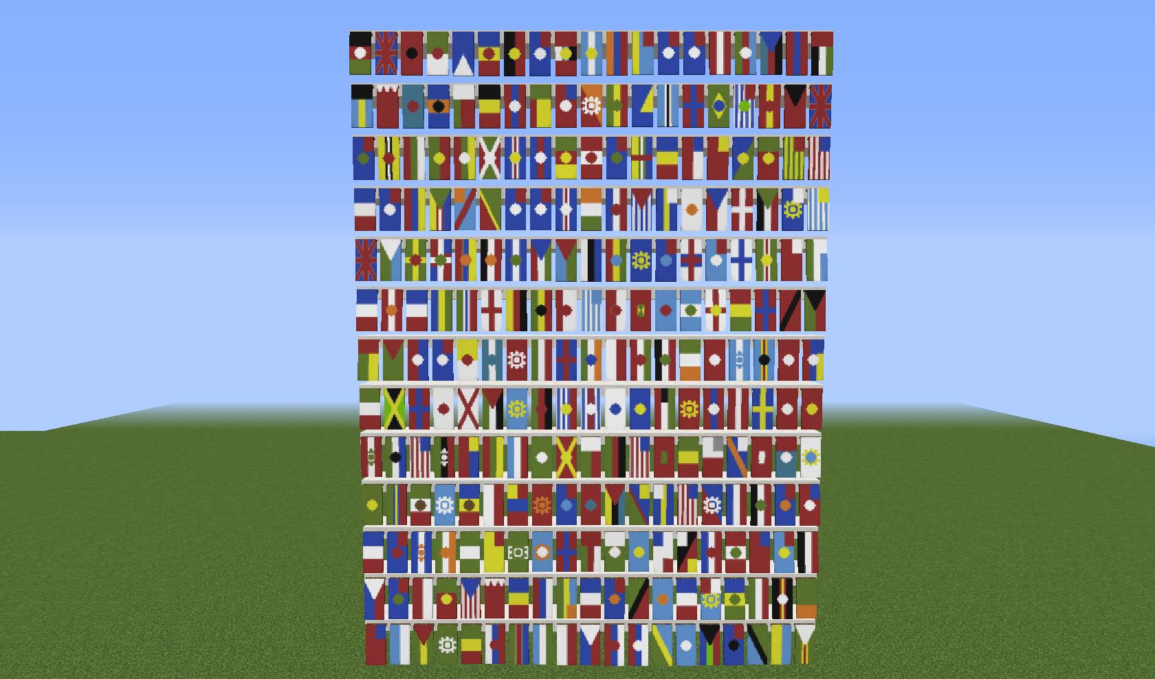 как сделать флаги в майнкрафт 1.8 #7