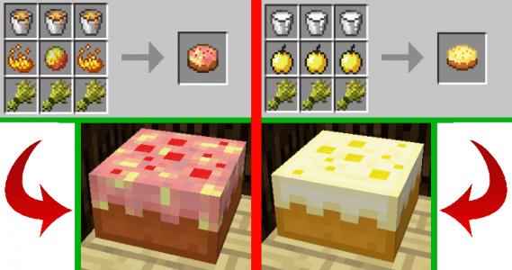 Cake lave et pomme d'or