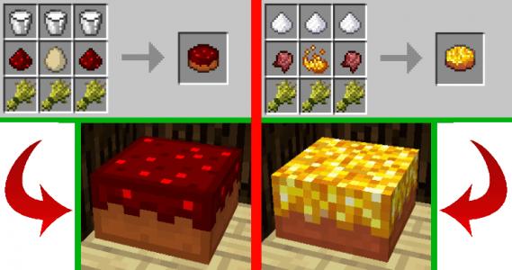 Cake redstone et épicé