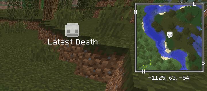 La carte affichera votre lieu de mort