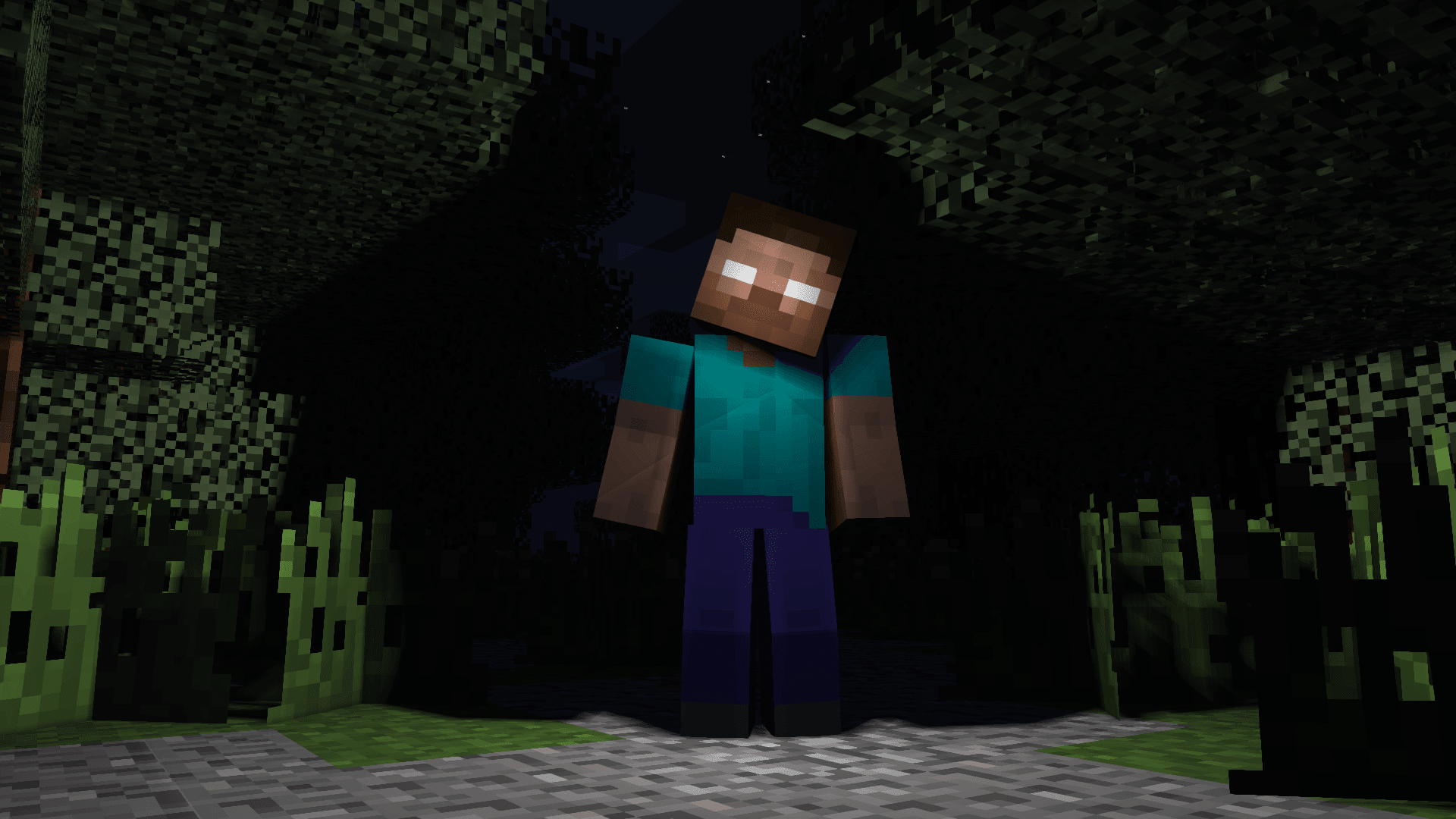 Herobrine, un Wallpaper de GreenLenux