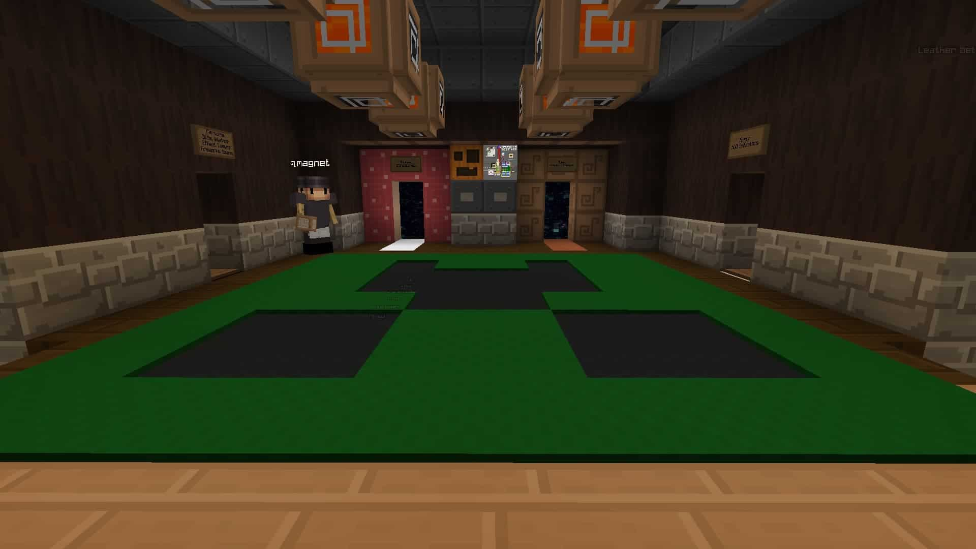 hall de Test Map avec resource pack