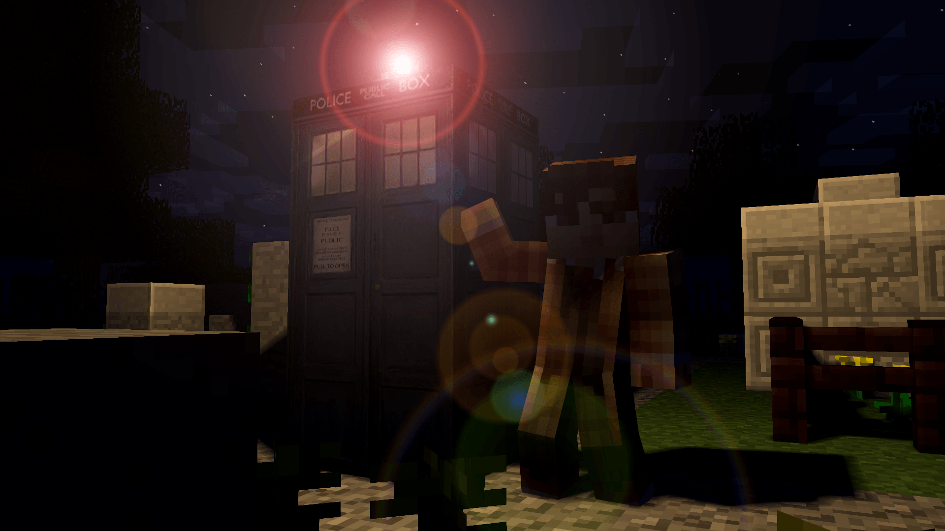 Docteur Who dans Minecraft, un Wallpaper de GreenLenux
