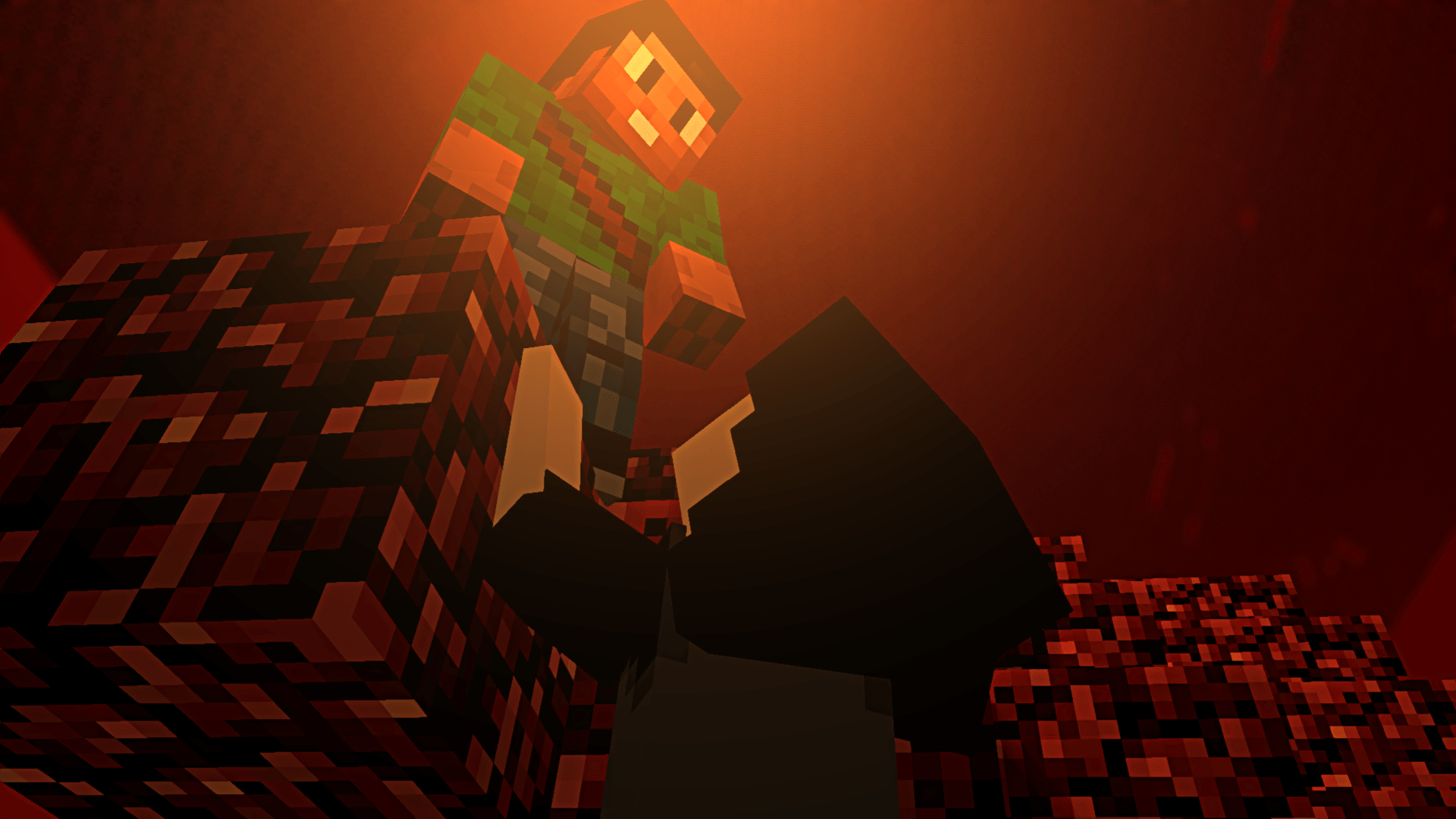 Une chute dans le nether, un Wallpaper de GreenLenux