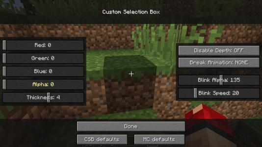 Custom Selection Box