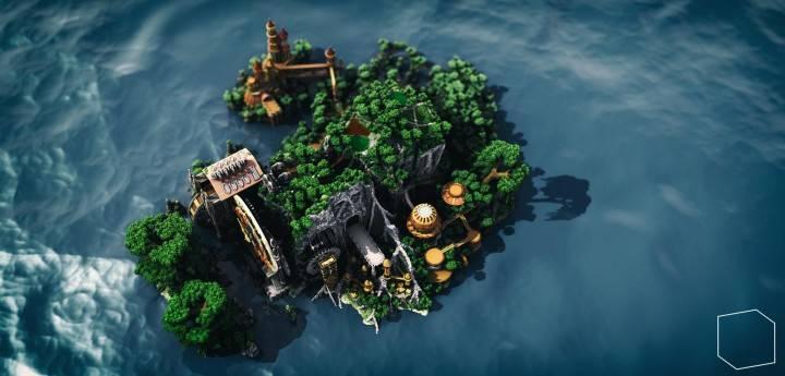 Vue du dessus de The Lonely Isle