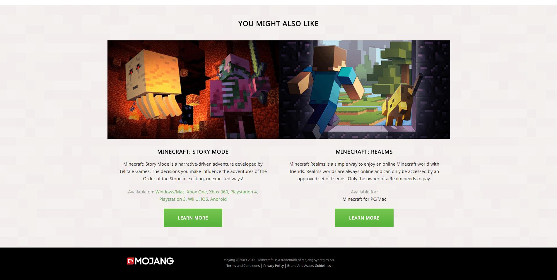 Minecraft.net beta