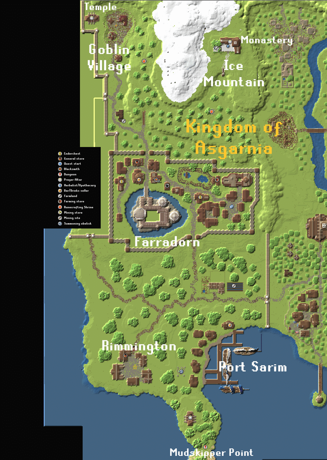 Gielinor - Map Asgarnia