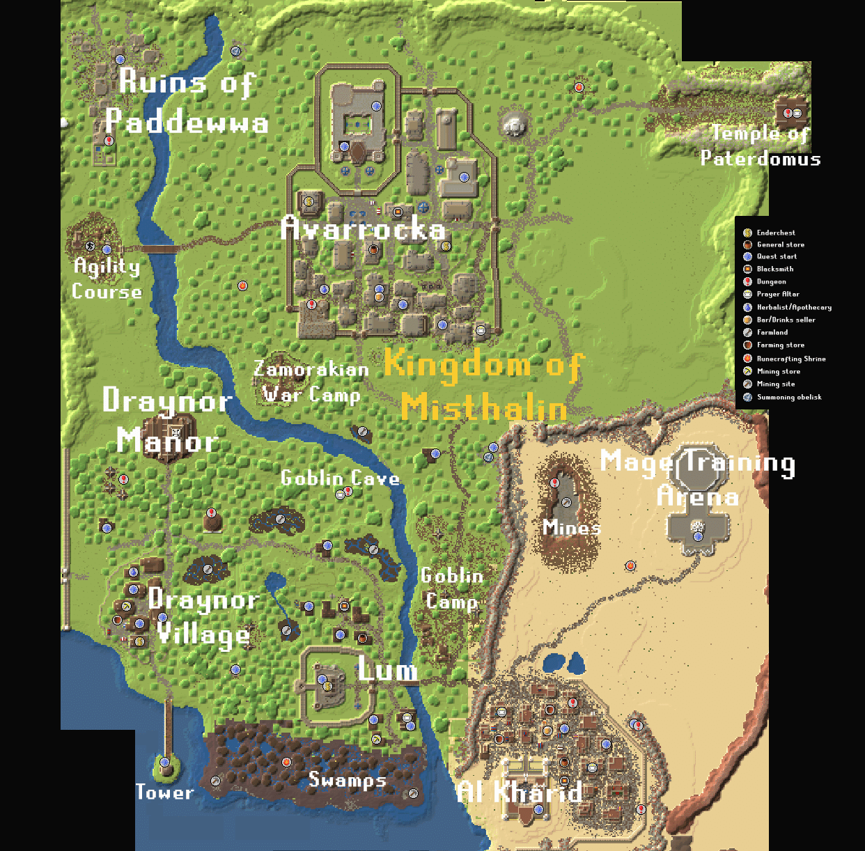 Gielinor - Map Misthalin